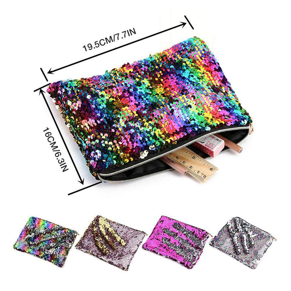 fbe19782f320 OrzBuy Cute Kids Pencil Case Glitter Reversible Sequin Pen Pencil Pouch for  Girls Cosmetic Makeup Organizer Bag Purse for Women