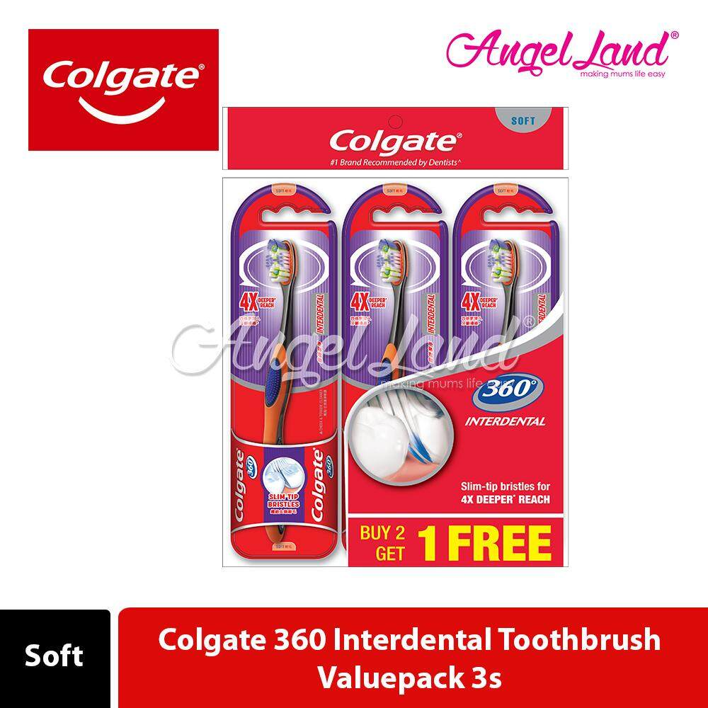 Colgate 360 Interdental Toothbrush Valuepack 3s (Soft)