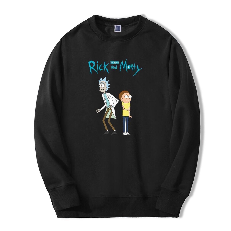 Anime Khoa Học Áo Hoodie Rick Và Morty In Bông Tai Kẹp Áo Nỉ Mới Thu Đông Thương Hiệu Khoác Hoodie Hip Hop Dạo Phố Áo Áo 2020 cotton Người Áo Len