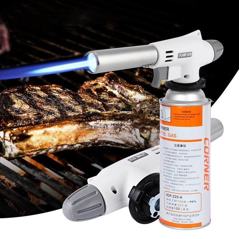 Kitchen Tools - 920 Gas Torch Automatic Electronic Flame Gun Butane Burners Gas Adapter Lighter