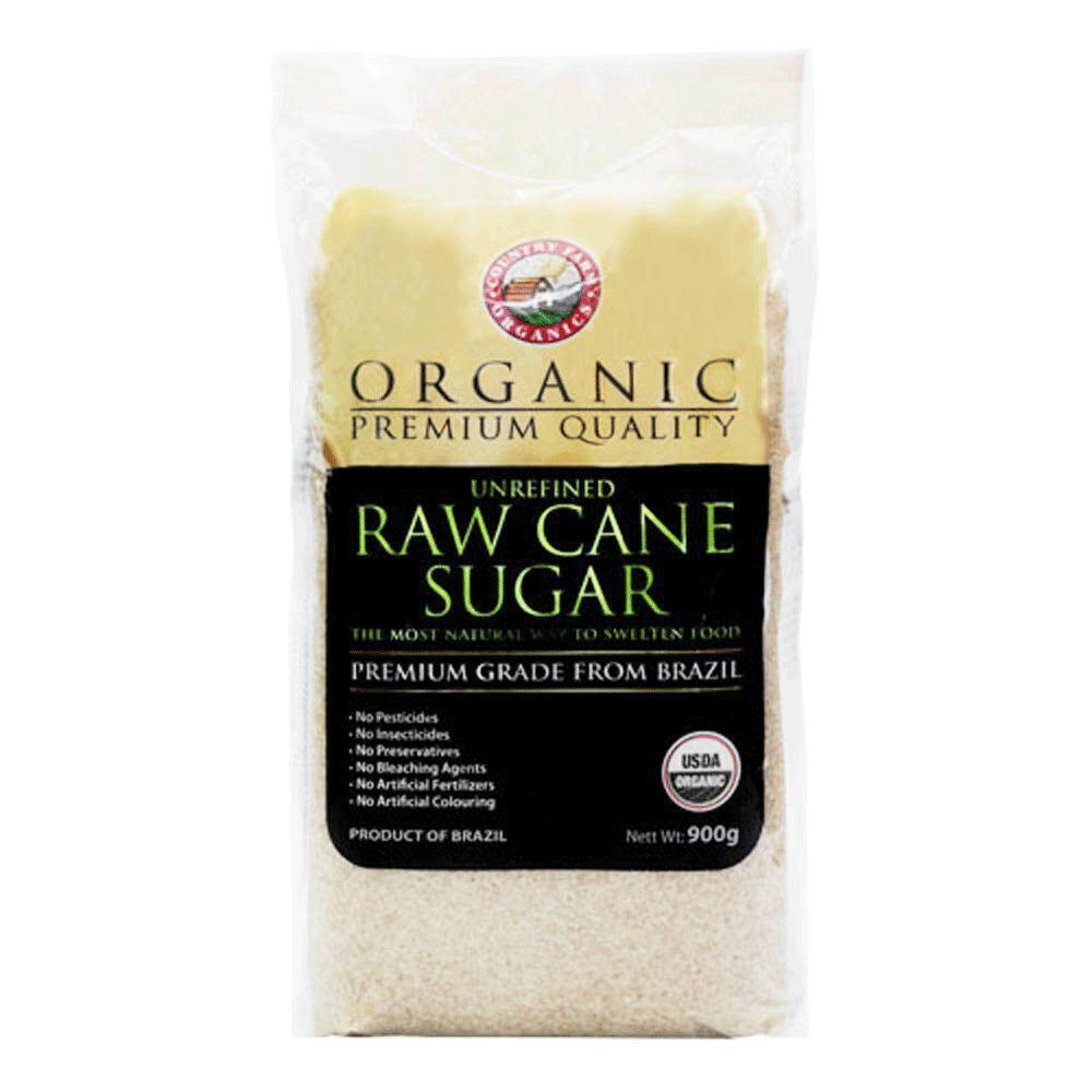 Country Farm Organics Certified Halal & Organic Raw Cane Sugar (900g)