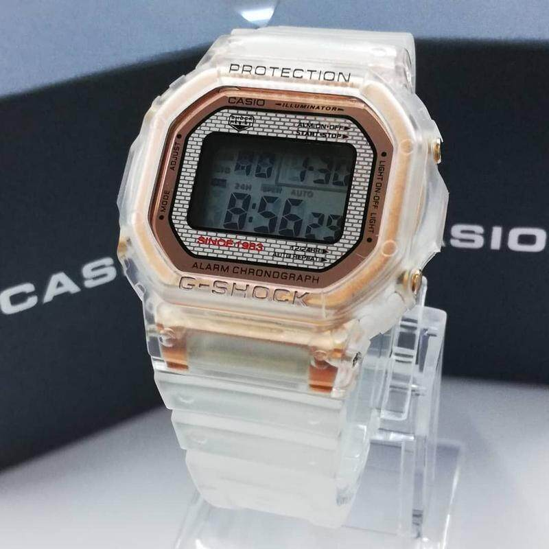 Sport Casio_G_SHOCK_Digital Display Transparent Fashion Casual Watch For Men Ready Stock 100% Mineral Glass New Design