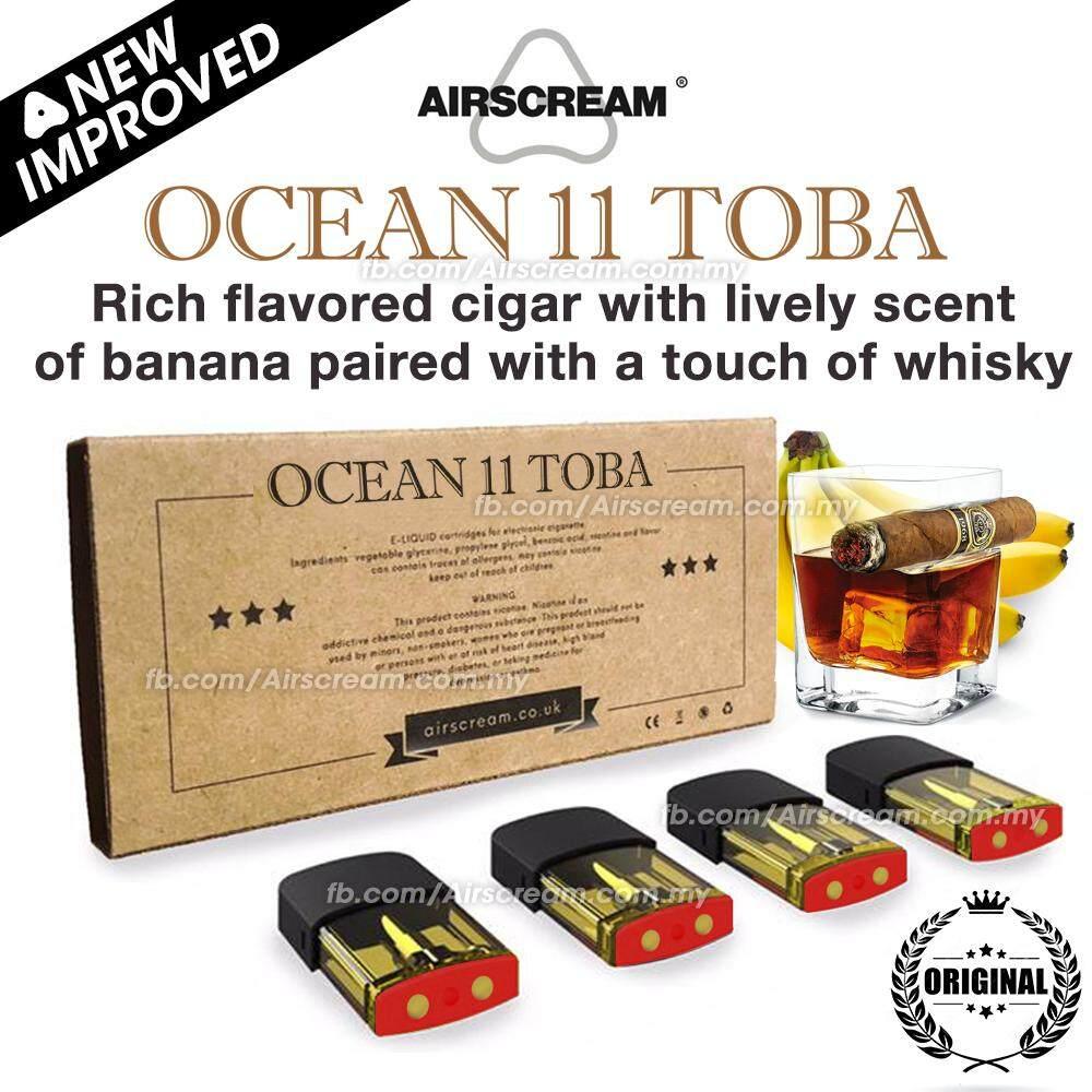 Airscream Airspops Cartridge Ocean 11 Toba Flavour (4 Cartridges)