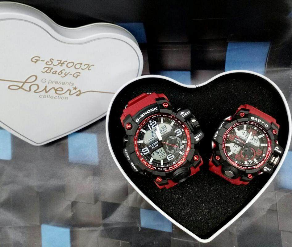 {Special Promotion} Sport Casio G-Shock_MudMaster DW-1523NB Couple Full Set Dual time Display For Men & Women With Own Heart Gift Box Mineral Glass New Sport Casual Couple Follow Us For More