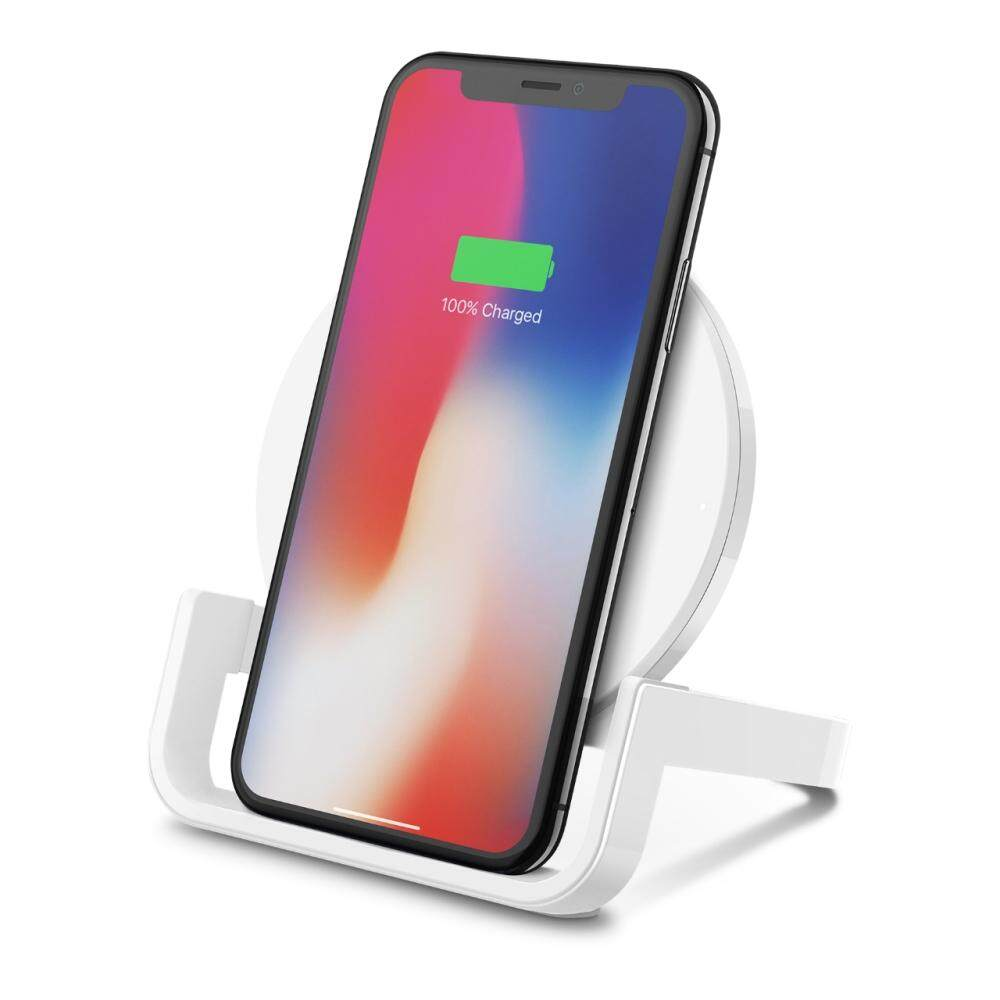 3 Years Warranty - Belkin BOOSTUP Wireless Charging Stand 10W for Apple iPhone, Samsung, LG and Sony,  F7U050drWHT, F7U050drBLK