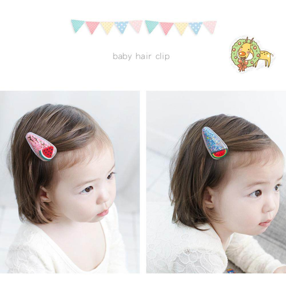 5pcs Girl Snap Hair Clips Jelly Metal Cute Barrettes for Party Daily Use Holiday