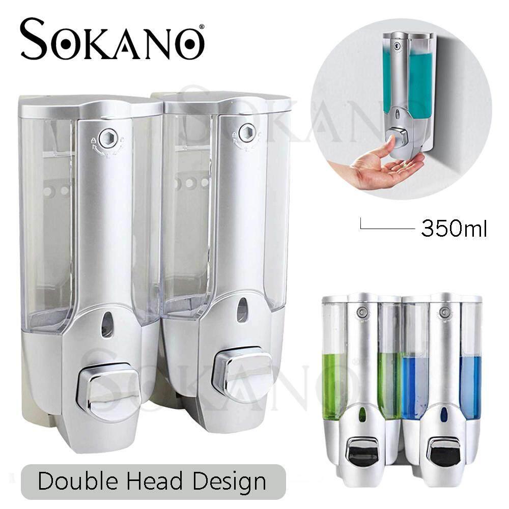 SOKANO BAA03 Wall Mounted Soap Dispenser Shampoo Dispenser for Bathroom, Air BnB, Hotel and Office