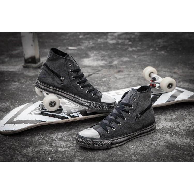 ยี่ห้อไหนดี  สระบุรี SLK★Converse รองเท้าผ้าใบ Original  30 ผู้ชายแฟชั่น Casual กีฬารองเท้าส้นเตี้ยขนาด 39-44