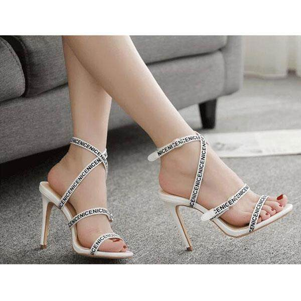 Baru 11 Cm Sandal Hak Tinggi Sepatu untuk Wanita Stiletto Pompa Ular Wanita Sandal Hak Tinggi ...