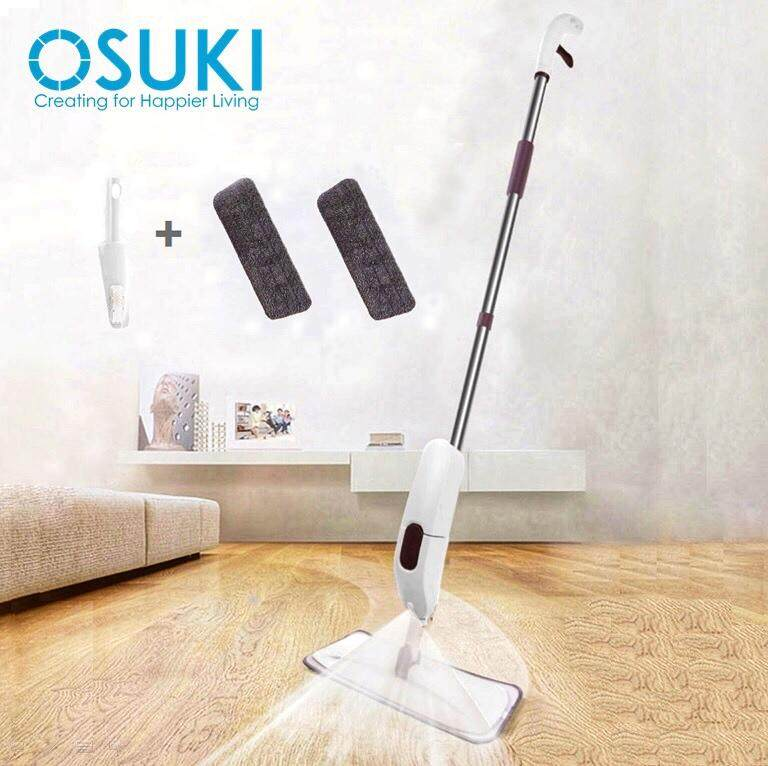 OSUKI Spray Floor Mop (2 Mop Pad + 1 Scraper)