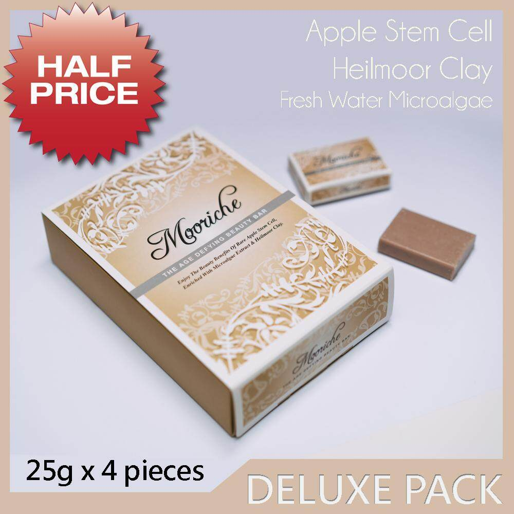 Mooriche The Age Defying Beauty Bar 25g x 4 pieces cleansing and moisturizing natural facial soap