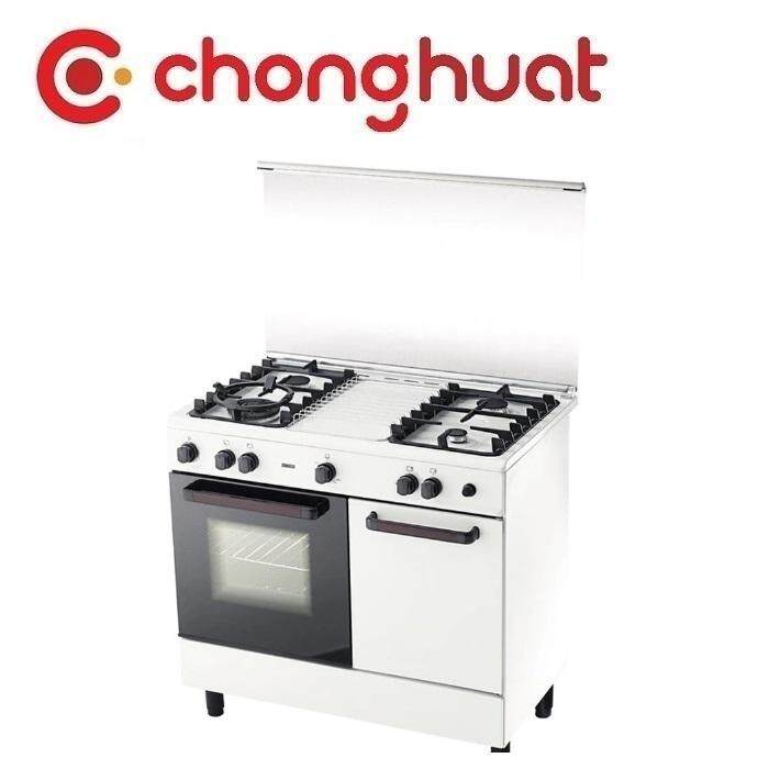 Zanussi ZCG-942W 4 Burner Freestanding Gas Cooker with 62L Multi Function Oven