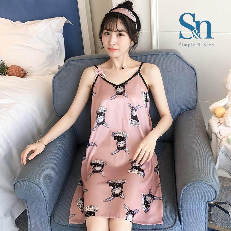 【LIMITED & READY 4 YOU】Flora Design Women Fashion Sleeveless Dress Pyjamas With Premium Grade Quality Silk  (Multiple Colour - Size: M-XXL)