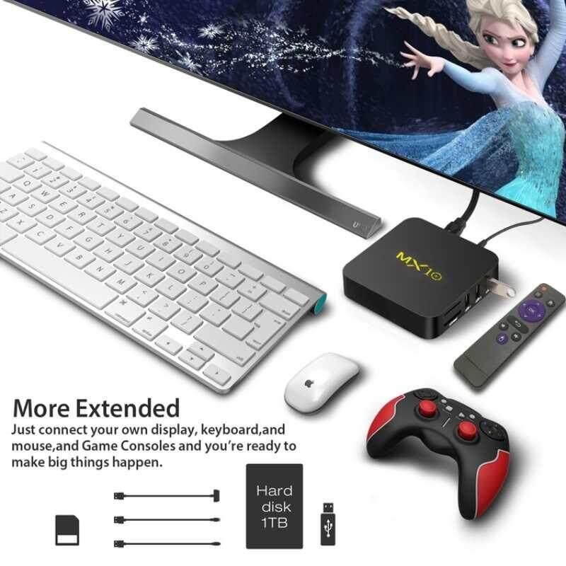 บัตรเครดิต ธนชาต  ร้อยเอ็ด Versea ใหม่ Android 9.0 MX10 สมาร์ททีวีกล่อง DDR3 4 GB RAM Rockchip RK3328 Quad Core 4 K 3D WiFi USB 3.0 IPTV สมาร์ทชุด TOP BOX UK PLUG