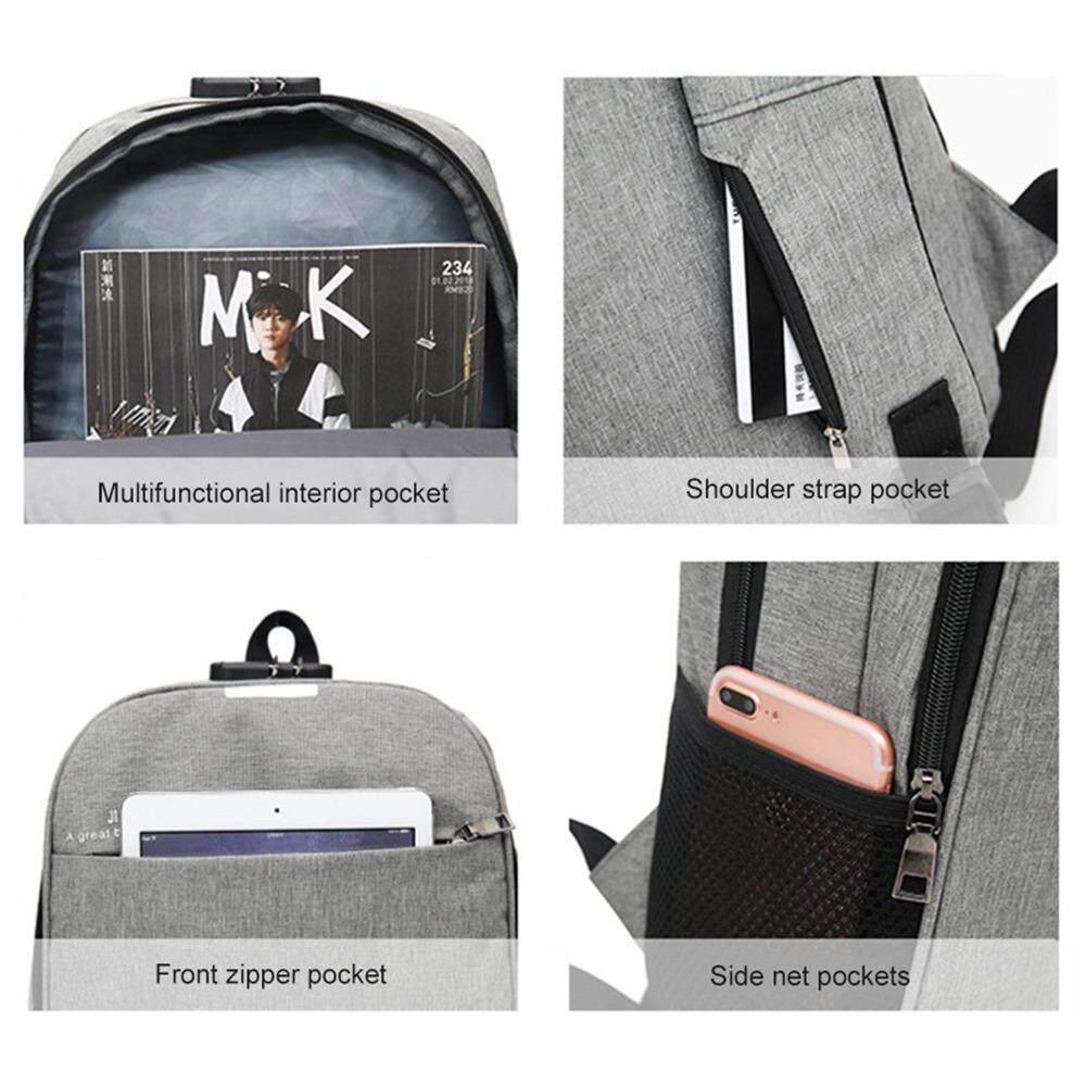 Detail Gambar Flyupward Laptop Tas Ransel bisnis Anti Pencurian Universitas Sekolah Tas Punggung Perjalanan Tas 15.6 Inch Ransel Komputer Slim Ringan Tahan ...