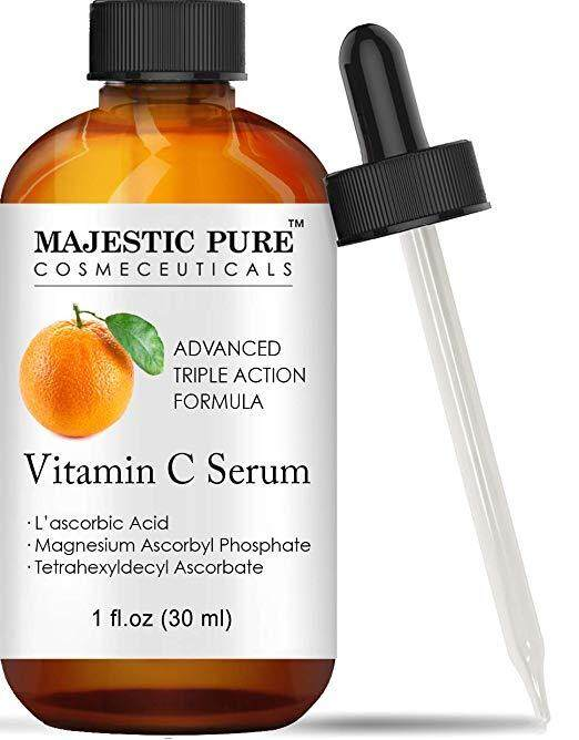 Majestic Pure High Performance Vitamin C Serum for Face and Neck Offers Anti Aging Topical Facial Serum with 10% L-ascorbic Acid, 1 fl. oz.