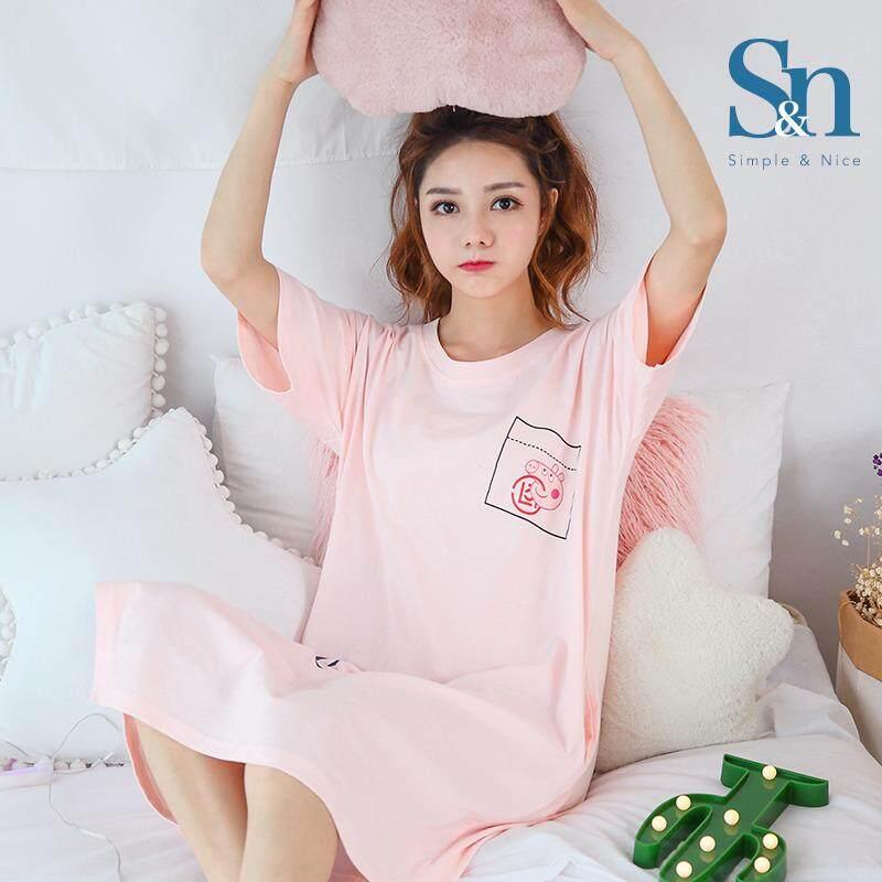 【SIMPLE & NICE】Korea Fashionista Women Modern Design Casual Dress Pyjamas (Size: M-XXL)