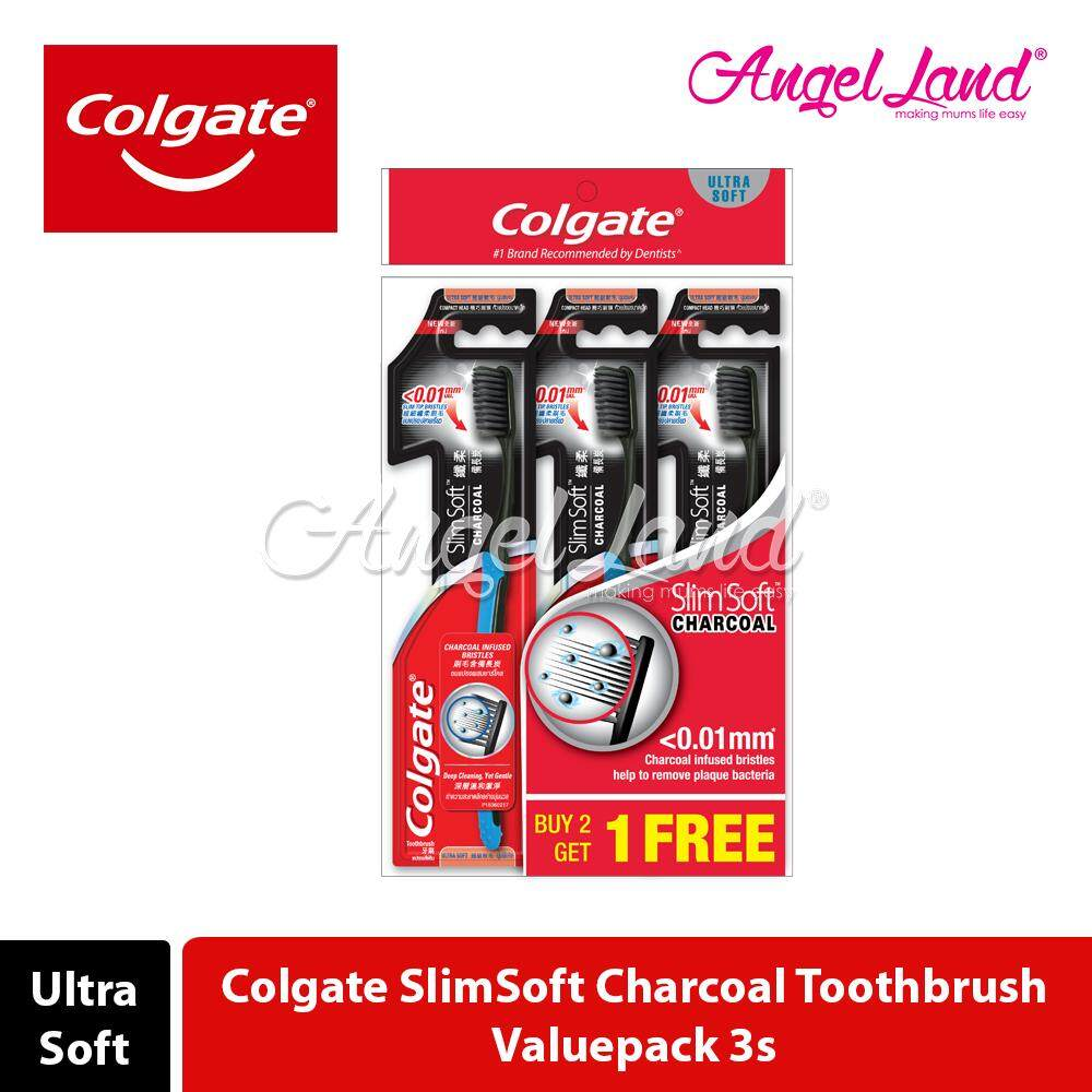 Colgate SlimSoft Charcoal Toothbrush Valuepack (Ultra Soft)