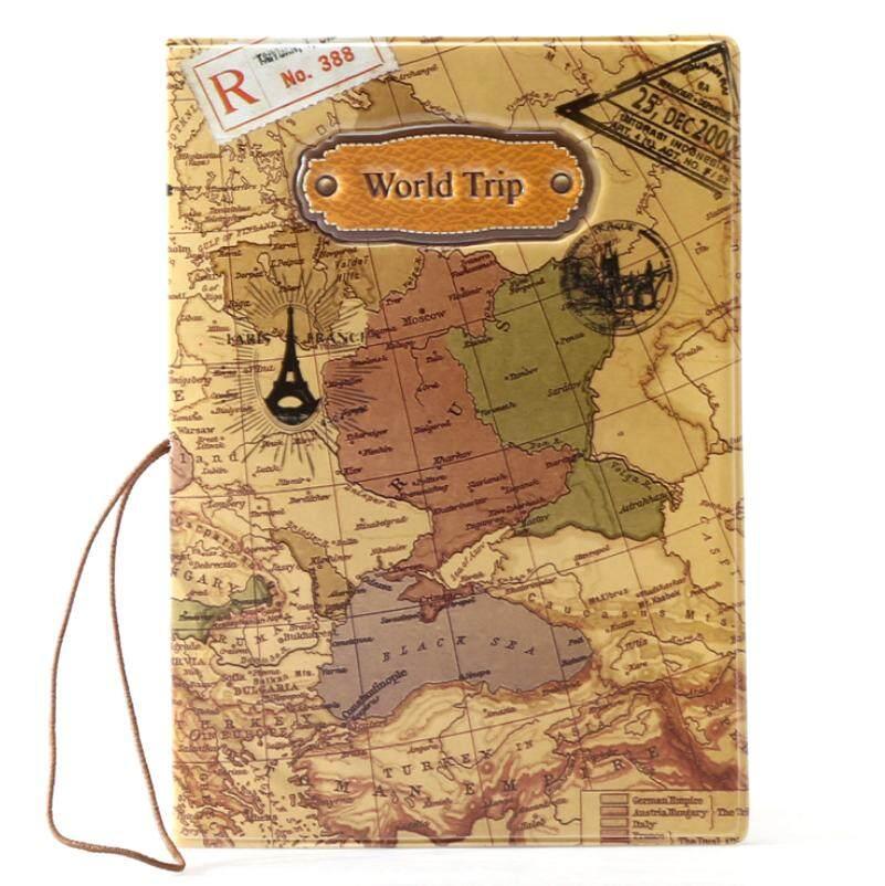 Unique Worldmap traveler passport holder