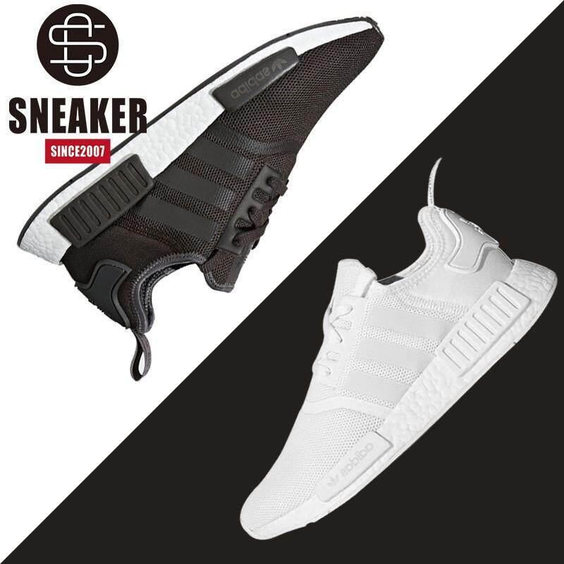 ยี่ห้อนี้ดีไหม  พังงา Adidas เดิมแท้ NMD R1 Boost Clover สีดำและรองเท้าสีขาว