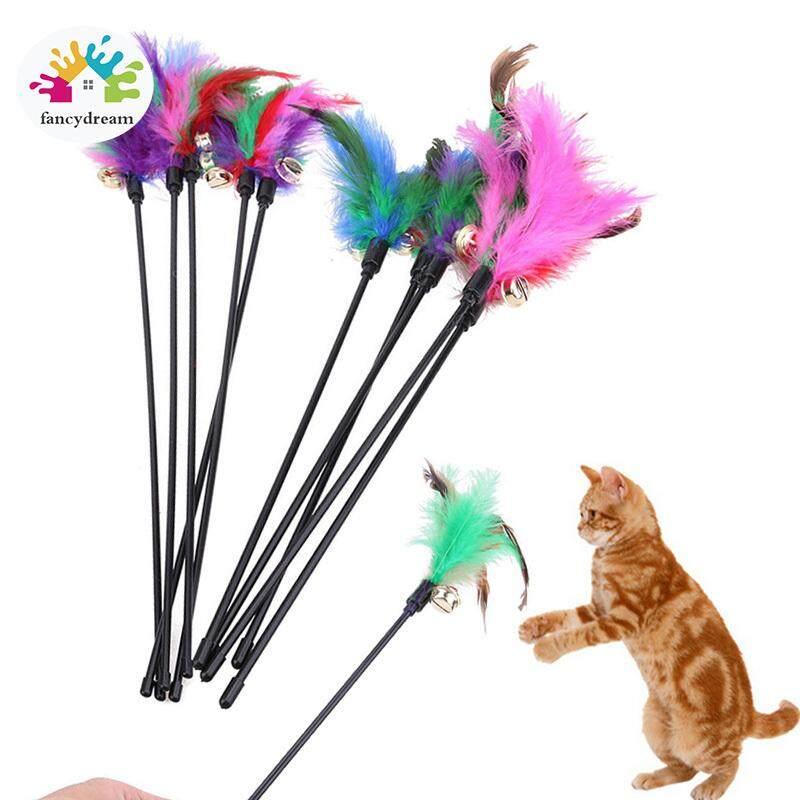 Fancydream 60 Cm Mainan Kucing Tongkat Kucing Lucu Dengan Bel Kecil Bulu Bermain Mainan Pancing Produk Acak Warna Lazada Indonesia