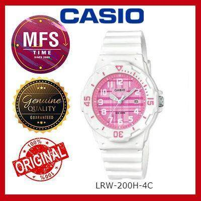 2 YEARS WARRANTY) CASIO ORIGINAL LRW-200H-4C SERIES STUDENT & KID'S WATCH