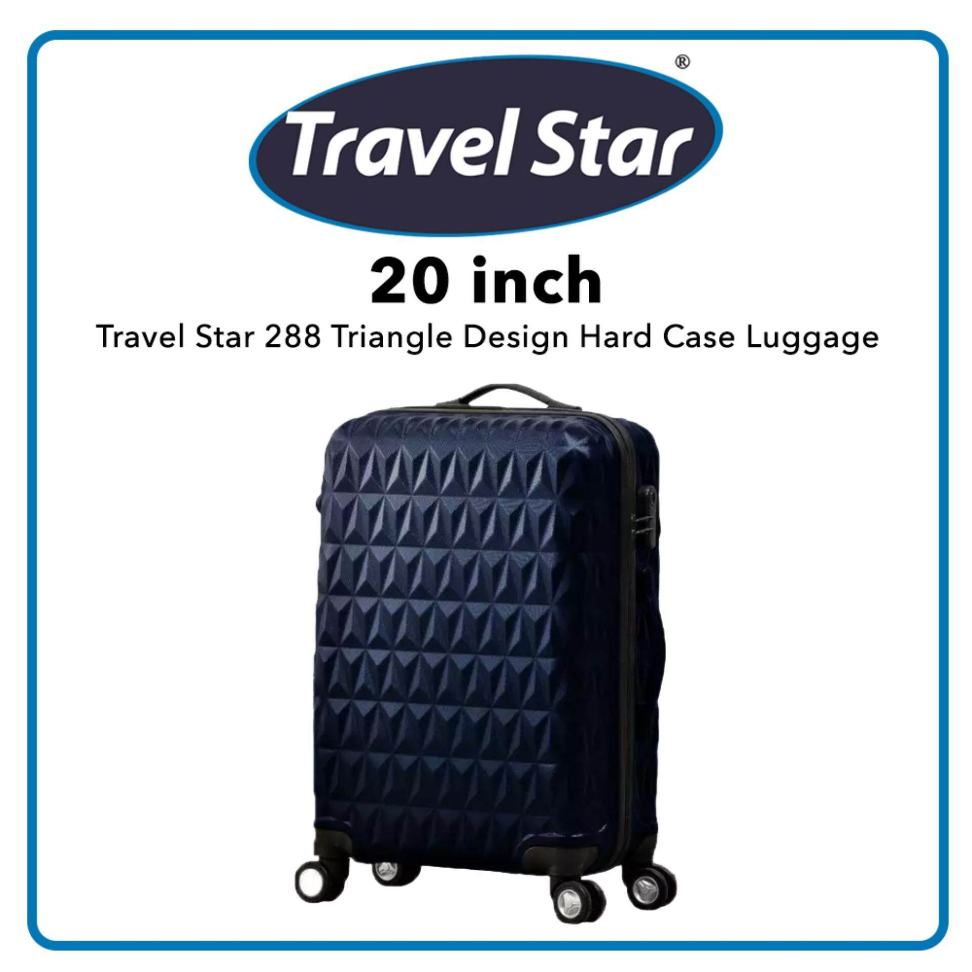 Travel Star 288 Triangle Design Hard Case Luggage Bagasi 20 Inches