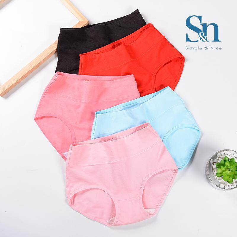 【10 Pcs Korean Fashionista Premium Cotton Underwear】SIMPLE & NICE Women/Female/Girls Standard Plain Design Panties Underwear Inside Wear Set (M-XL) Direct From Factory