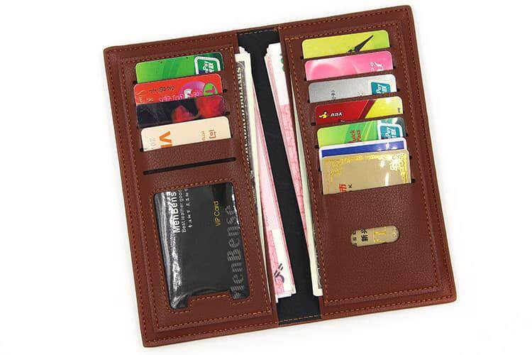 [M'sia Warehouse Direc] 2019 Korean Series Men's Fashion Multifunctional Luxury Long Purse Fengshui Portable Long Wallet With Zip Clutch Card Coin ID Lightweight Flexibility Genuine Leather Hand Carry Bag Perfect Gift For Father Day Dompet Panjang Kulit