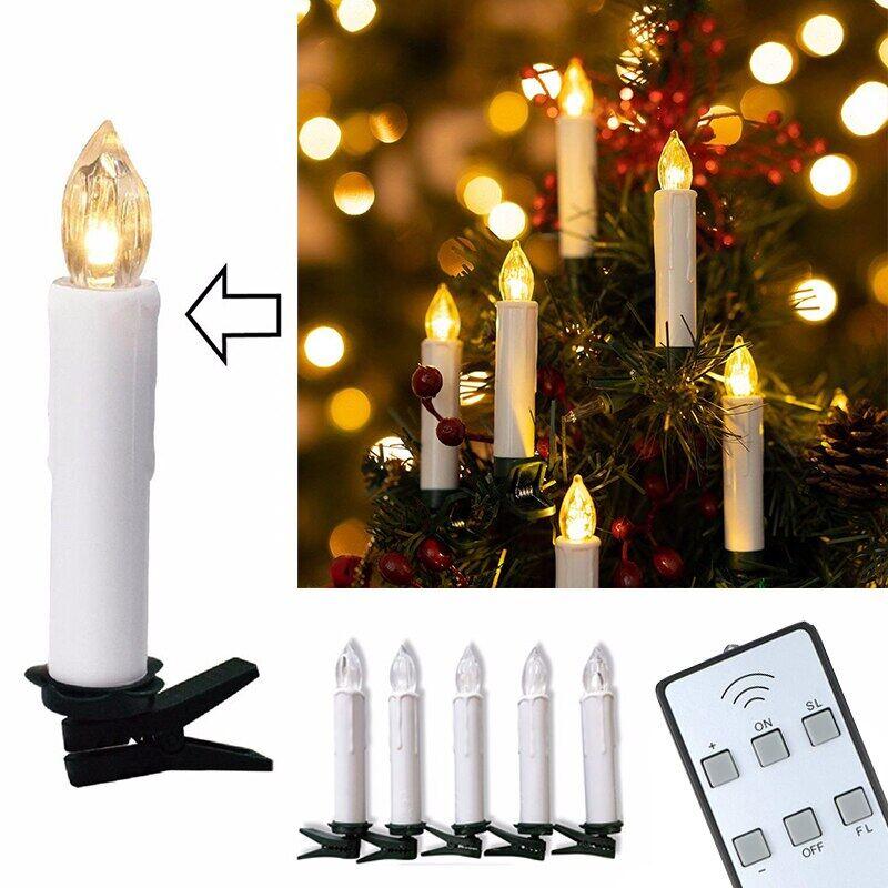 10 Chiếc Nến Pin Led Điều Khiển Từ Xa Không Dây Tealights Hoạt Động Cho Ngày Lễ Các Thánh Giáng Sinh Tiệc Cưới