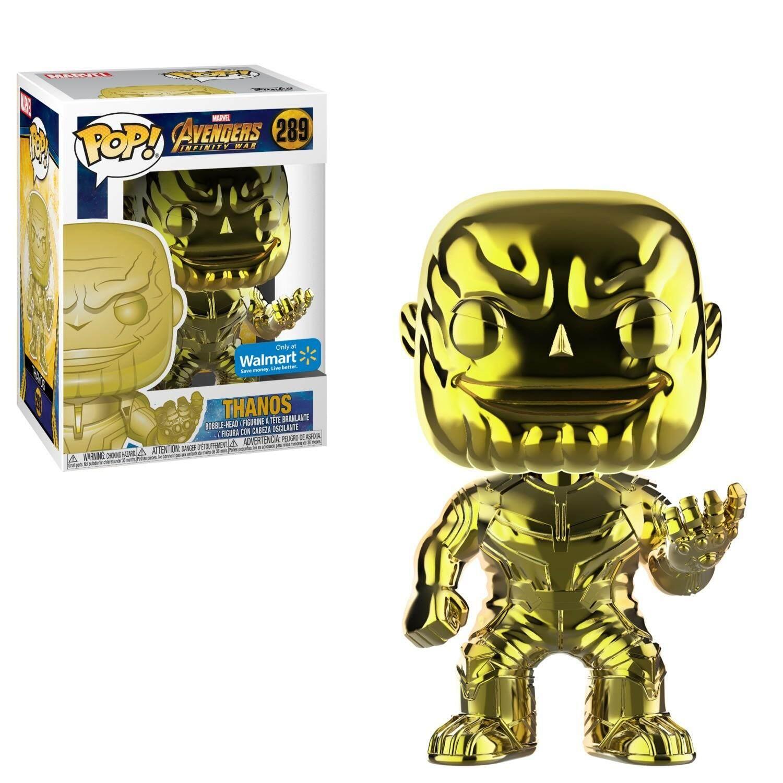 Funko Marvel: Infinity War Thanos Yellow Chrome Pop! Vinyl Figure Walmart Exclusive
