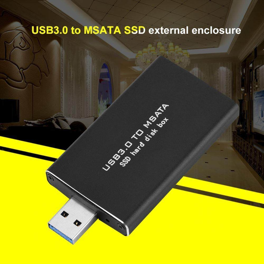 External Hard Drives - USB3.0 to MSATA SSD Hard Disk Enclosure 120G Black