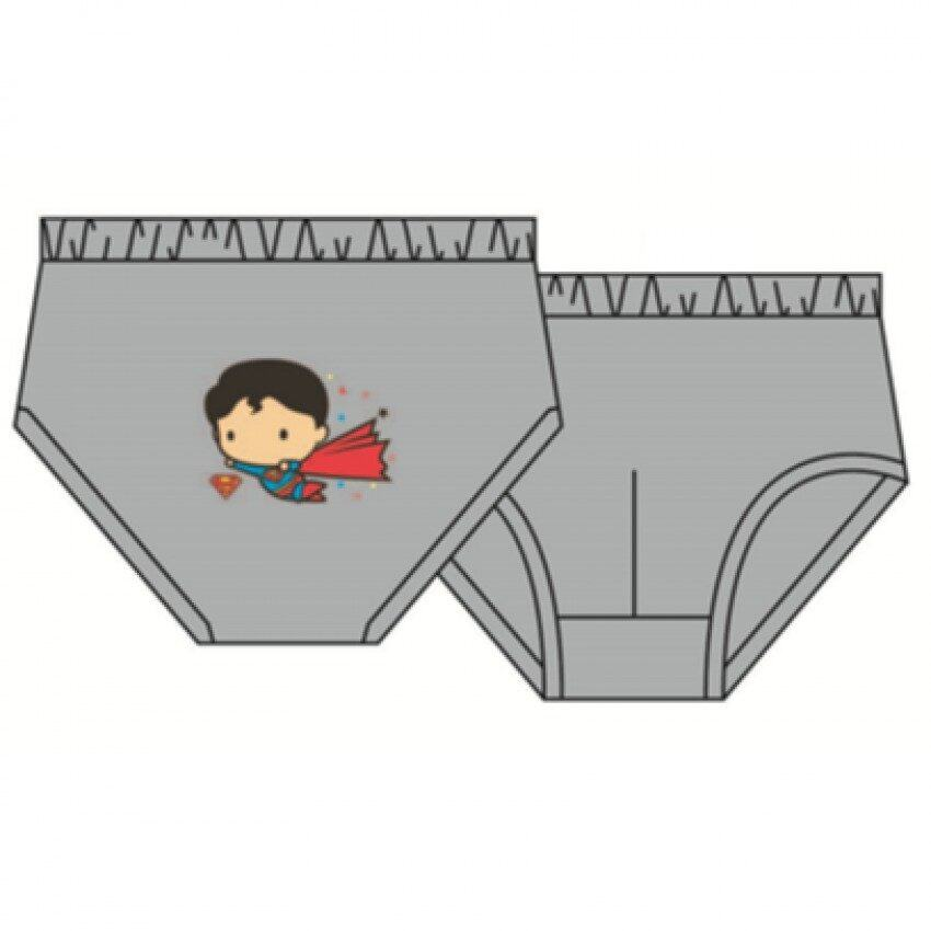 DC Comics Superman Boy's Briefs Set 100% Cotton 4yrs to 12yrs - Red, Light Green And Grey Colour