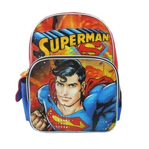 DC Comics Superman Pre School Bag - Red and Orange Colour
