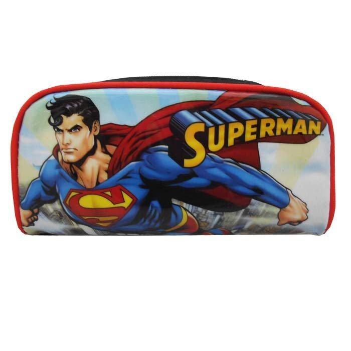 DC Comics Superman Square Pencil Bag - Blue and Red Colour