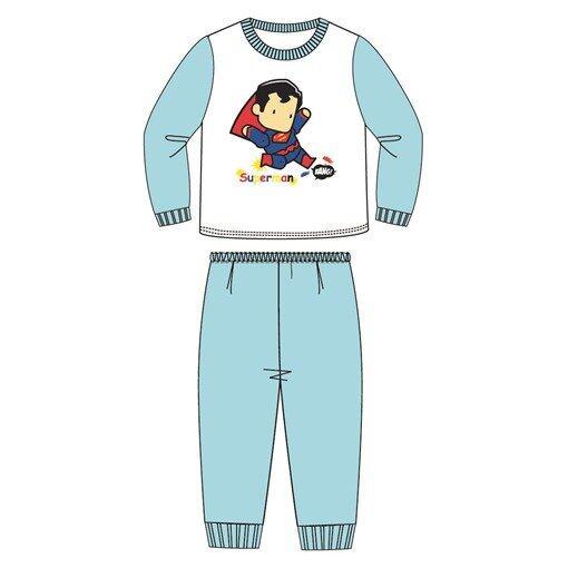 DC Comics Superman Toddler Pajamas 100% Cotton 1yrs to 3yrs - Blue Colour