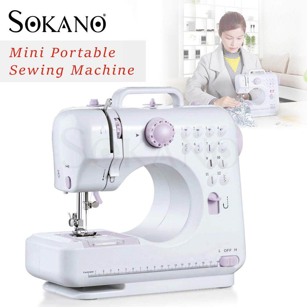 (RAYA 2019) SOKANO FSHM-505 12 Sewing Options Mini Portable Handheld Sewing Machine