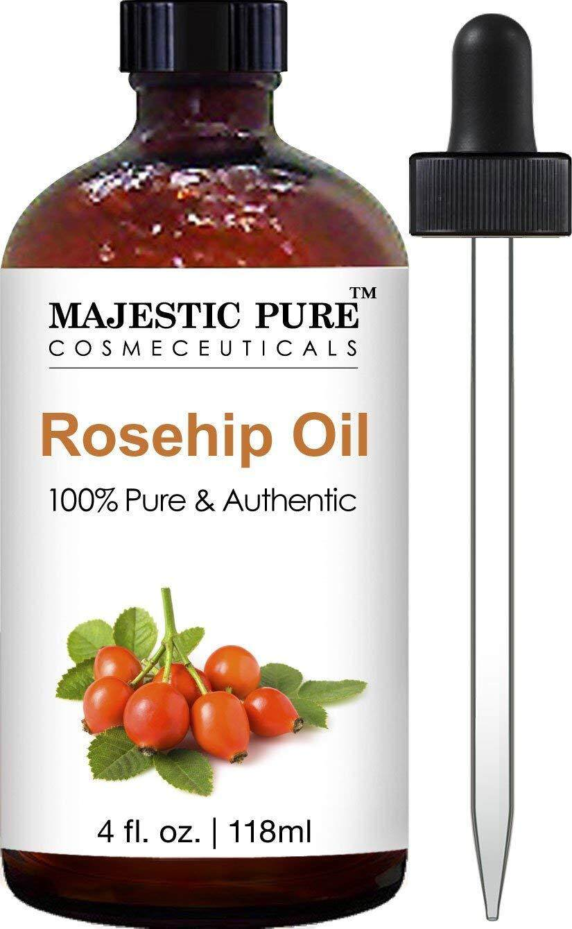 [ iiMONO ] Majestic Pure Rosehip Oil for Face, Nails, Hair and Skin, 100% Pure & Natural, Cold Pressed Premium Rose Hip Seed Oil, 4 oz
