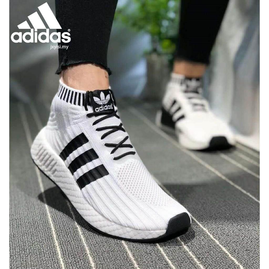ยี่ห้อนี้ดีไหม  แม่ฮ่องสอน ผู้หญิงรองเท้ากีฬาสีขาว ADIDAS NMD R2 PK ผู้ชายถุงเท้าการเล่นบาสเกตบอลรองเท้า
