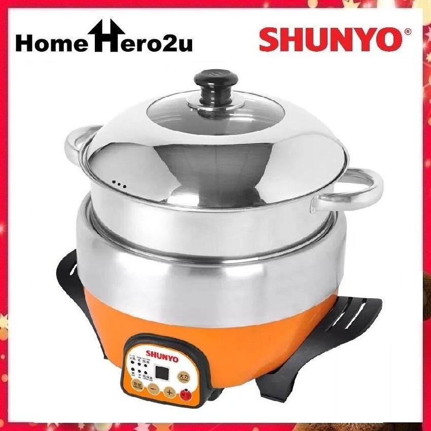 Shunyo SH-6328MC 6L Computerized Multi-function Steam Cooker (Stainless Steel) - 1600W - Homehero2u