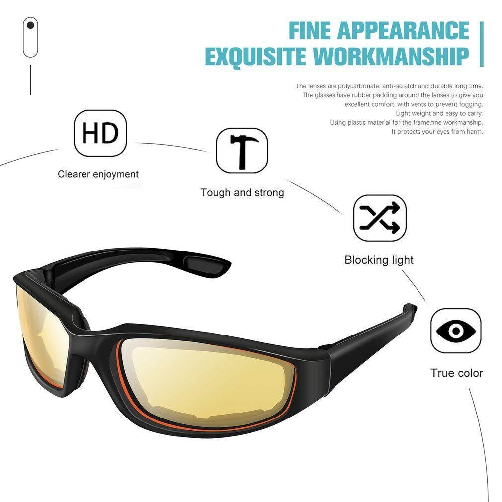 ... Oh Kacamata Sepeda Motor Tahan Angin Anti Debu Kaca Mata Goggle Kacamata Luar Ruangan - 3 ...