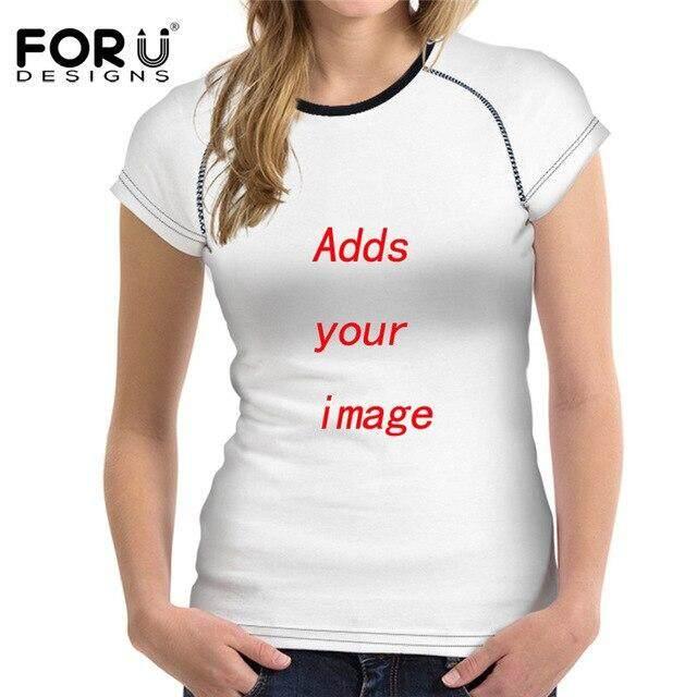 สุดยอดสินค้า!! FORUDESIGNS แฟชั่นผู้หญิง O คอ T เสื้อสุนัขน่ารัก Kerry Blue Terrier พิมพ์ฤดูร้อนหญิงเสื้อยืดเสื้อแขนสั้น Harajuku TOP TEE
