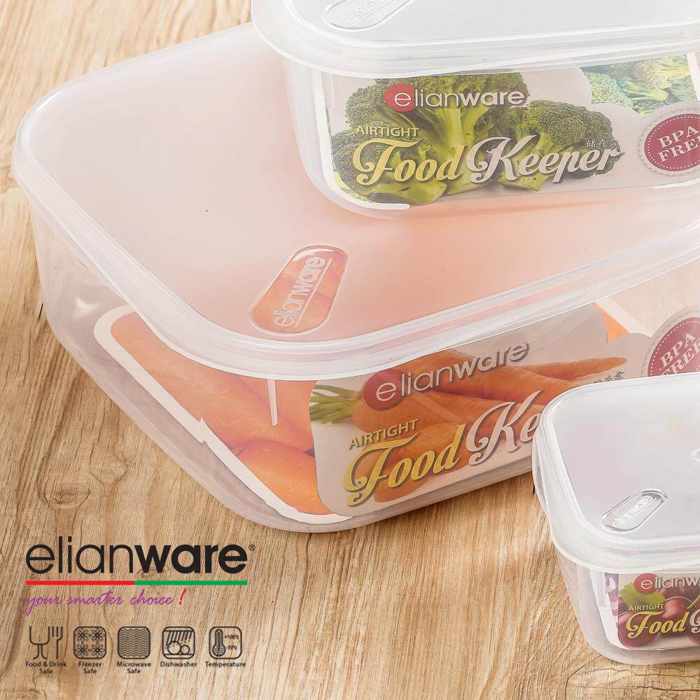 Elianware 3.8L Transparent Square [BPA Free] Airtight Food Storage Container