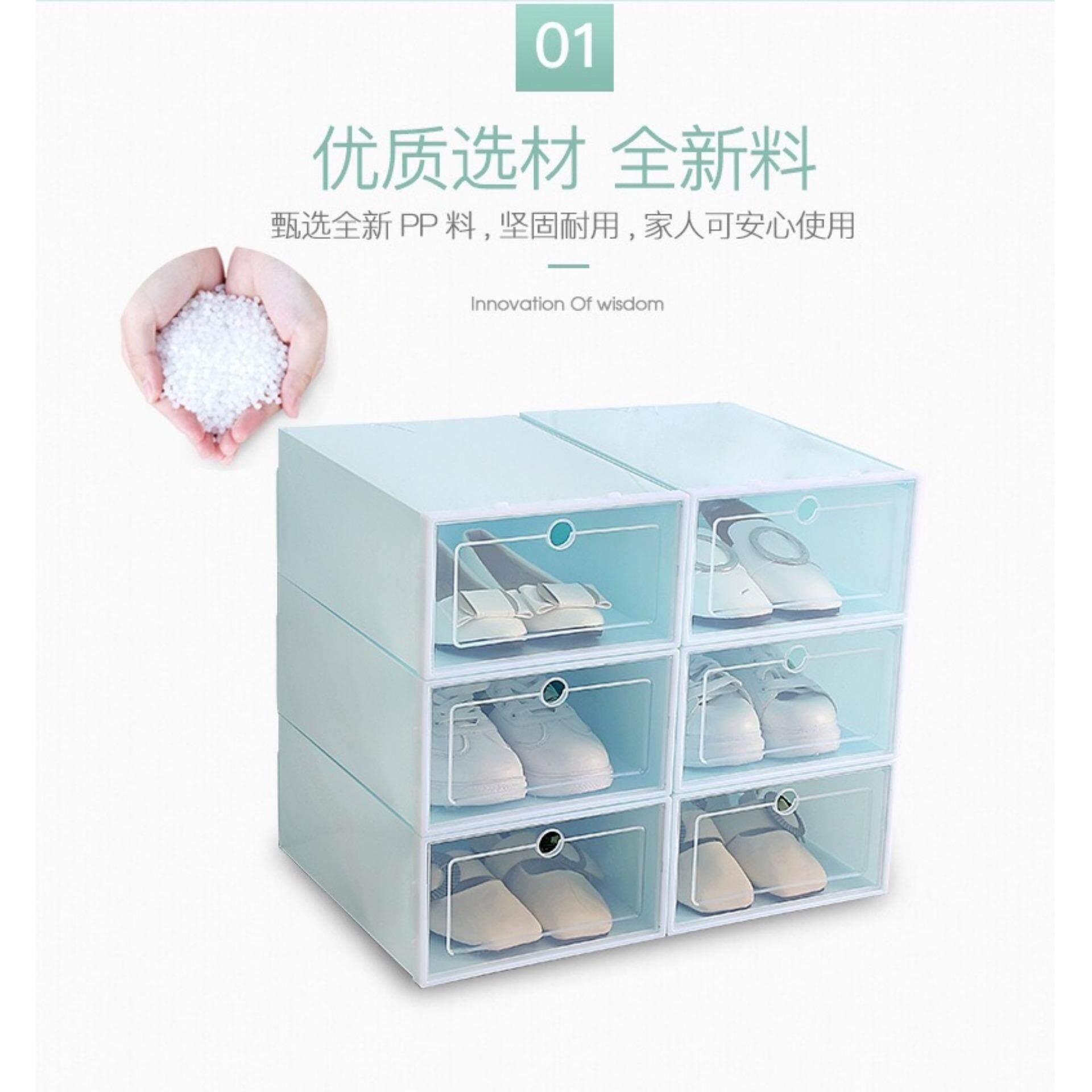 1 pc Transparent Plastic Shoe Box Shoe Storage Container Portable