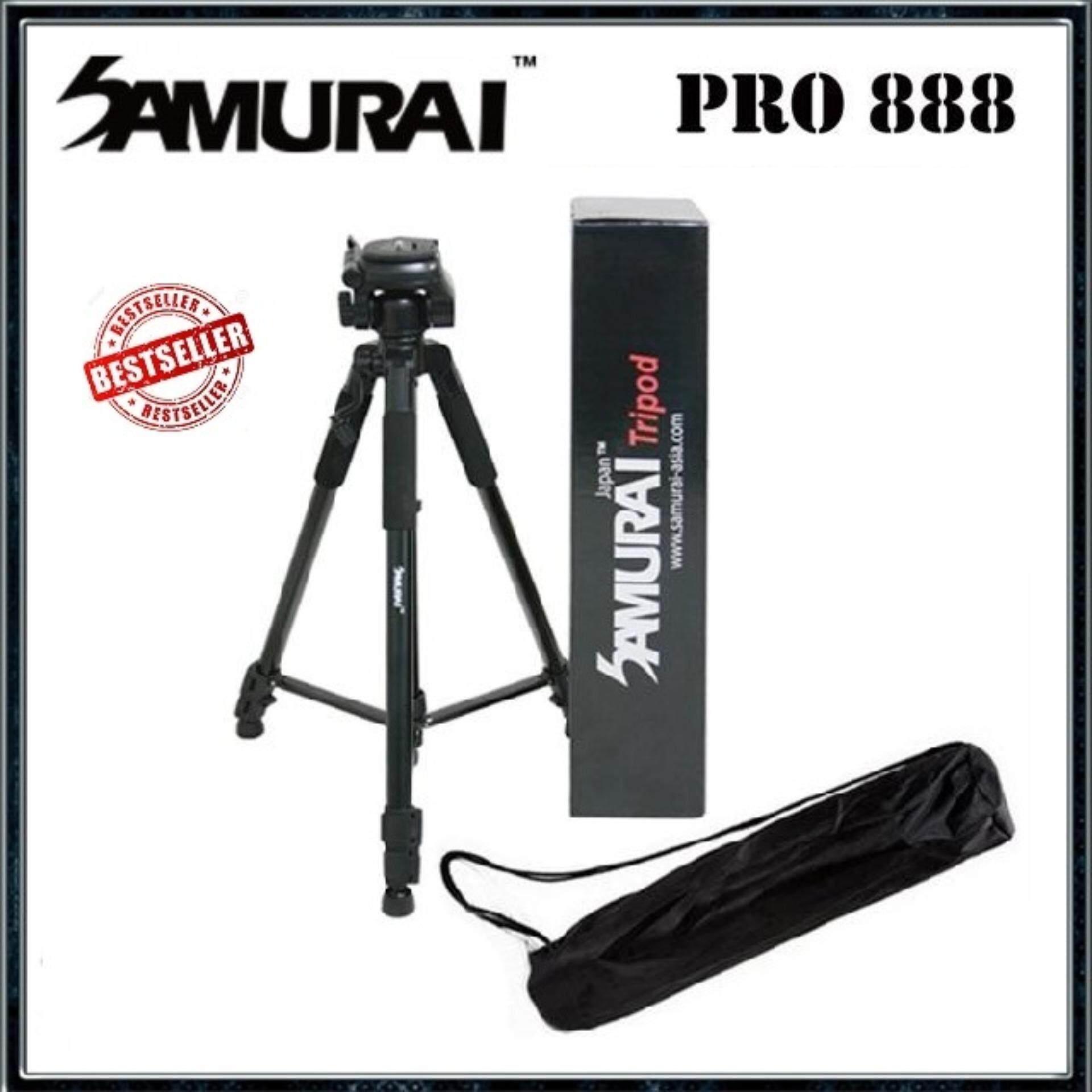 Samurai Pro888 BLACK Aluminum light weight Tripod Free Pouch