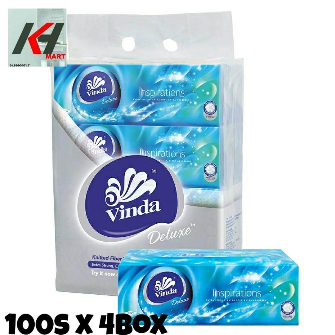 Vinda Deluxe  Inspiration Pack Facial Tissue ( 100s X 4box ) READY STOCK