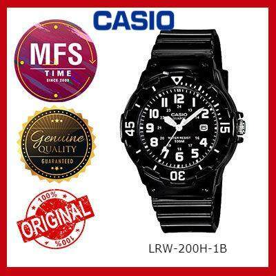 2 YEARS WARRANTY) CASIO ORIGINAL LRW-200H-1B SERIES STUDENT & KID'S WATCH