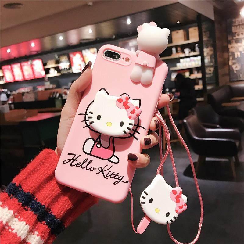 เก็บเงินปลายทางได้ สำหรับ OPPO A3S กรณีครอบ TPU นุ่มซิลิโคน Hello Kitty 3D น่ารักเคสโทรศัพท์สำหรับ OPPO A3S A5 + ผู้ถือแหวน + สายชาร์จมือถือแผ่นป้องกันวงแฟชั่น