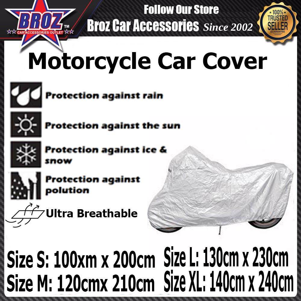 Motorcycle Motorbike Waterproof Dustproof UV Protective PEVA S M L XL (Grey)