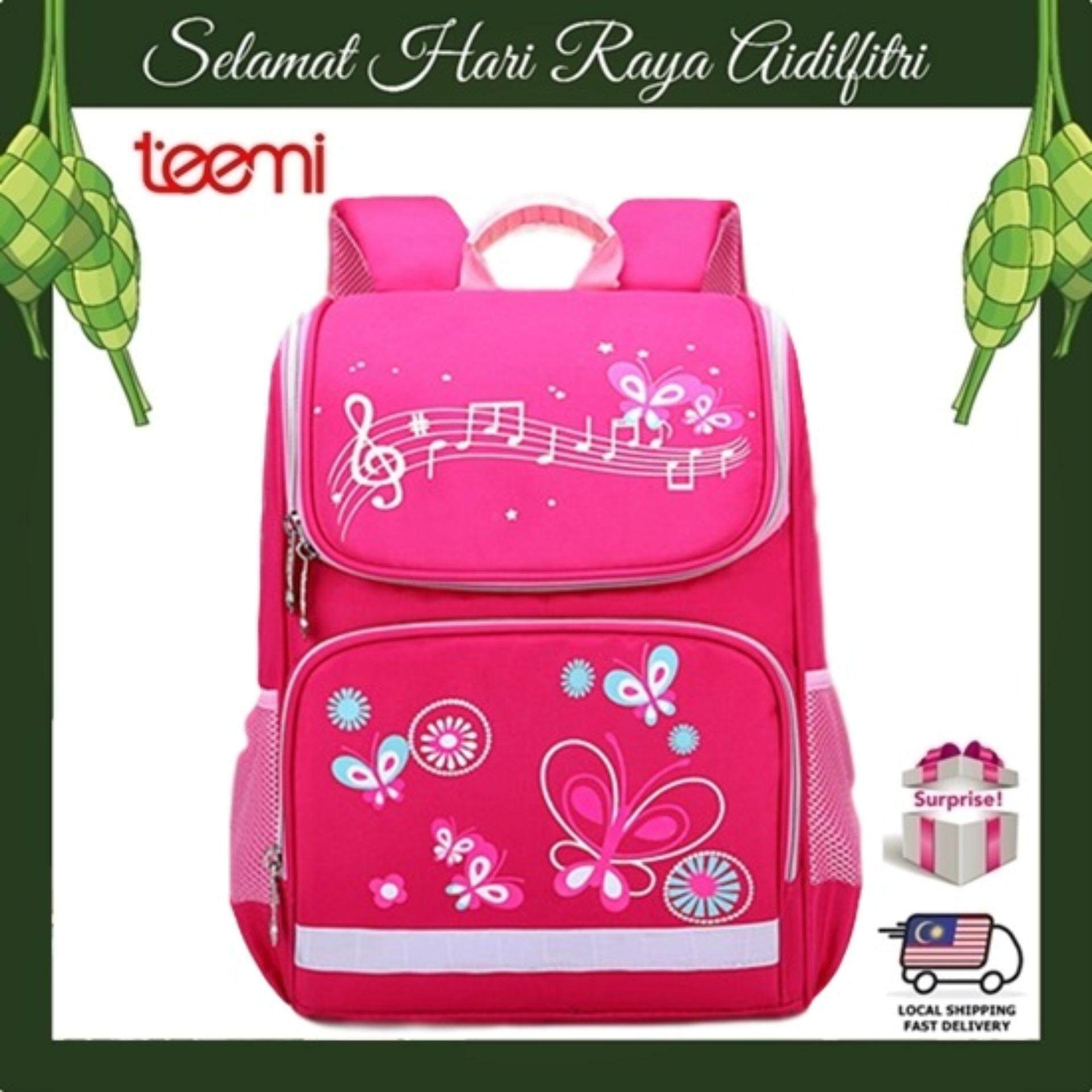 TEEMI Space Russian Orthopedic Backpack Top Load Water Resistant Light Weight Kids Children Primary School Bag - Pink Big